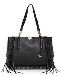 COACH - Dreamer 34 Whipstitch Leather & Suede Tote
