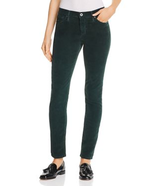 Ag Corduroy Stovepipe Jeans in Sulfur Verdant 3120362
