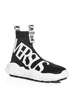 Versus Versace - Men's Stretch Knit High Top Sneakers