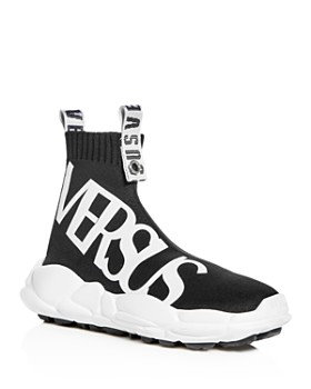 Versus Versace - Men's Stretch Knit High Top Sneakers
