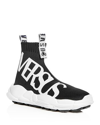 Versus Versace Men's Stretch Knit High Top Sneakers ...