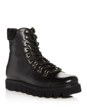 KARL LAGERFELD Men'S Sawtooth Hiker Boots in Black