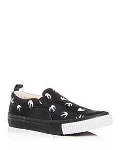 McQ Alexander McQueen - Men's Swallow Print Slip-On Sneakers