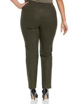 Lafayette 148 New York Plus - Thompson Waxed Skinny Jeans in Basil