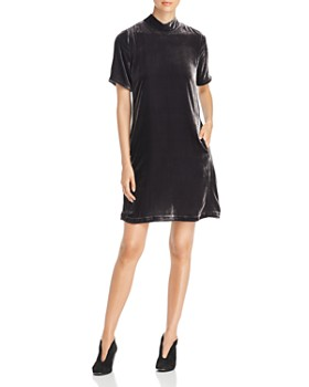 Eileen Fisher Petites - Mock Neck Velvet Dress