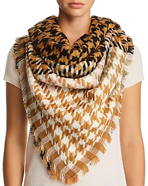 Jane Carr Houndstooth Scarf