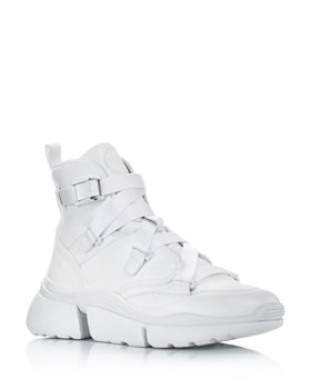 Chloé - Women's Sonnie Leather High Top Sneakers
