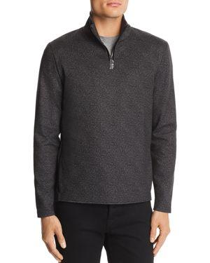 WRK Oscar Quarter-Zip Sweater in Charcoal