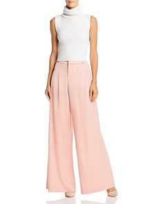 Alice and Olivia - Scarlet Pleated Wide-Leg Pants