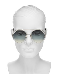 Fendi - Women's Brow Bar Round Sunglasses, 57mm