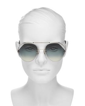 Fendi - Women's Brow Bar Round Sunglasses, 57mm
