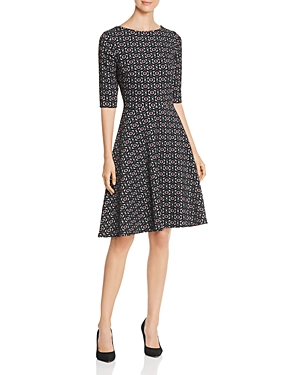 Leota FIT-AND-FLARE PRINTED DRESS