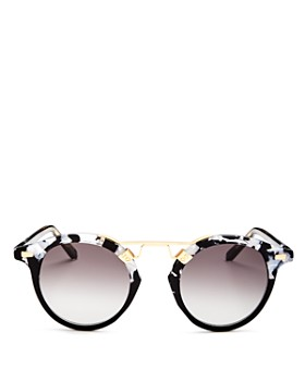Krewe - Women's St. Louis Brow Bar Round Sunglasses, 46mm