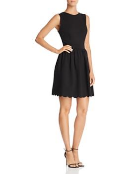 AQUA - Scallop Hem Dress - 100% Exclusive