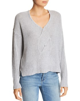 Moon & Meadow - Angie Cable Twist-Front Sweater