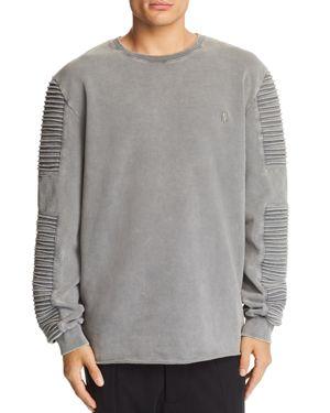 NANA JUDY Nana Judy Montana Biker-Sleeve Sweatshirt in Acid Gray