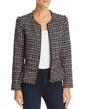 Rebecca Taylor - Multi Tweed Peplum Jacket