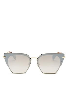 rag & bone - Women's Mirrored Oversized Square Sunglasses, 64