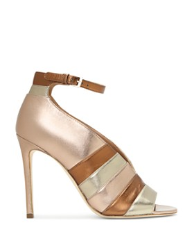 Laurence Dacade - Women's Sianni Metallic Leather Stripe Ankle-Strap Sandals