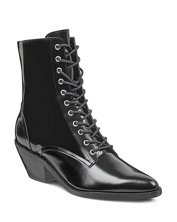 Marc Fisher LTD. - Women's Bowie Leather Lace Up Booties