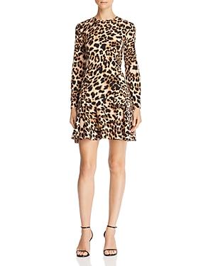 Aqua Flounce-Hem Leopard Print Dress - 100% Exclusive