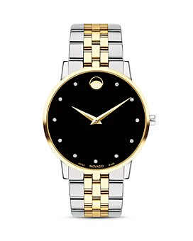 Movado - Museum Classic Two-Tone Diamond-Index Watch, 40mm