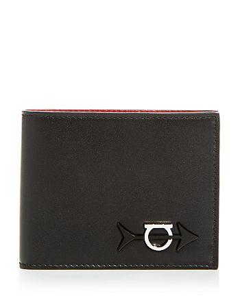 Salvatore Ferragamo - Gancini Arrow Leather Bi-Fold Wallet