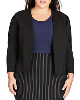 96409bb94d8ca City Chic Plus - Open Cropped Jacket ...