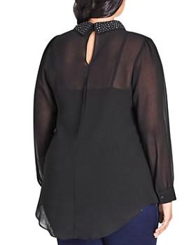 City Chic Plus - Studded-Collar Top