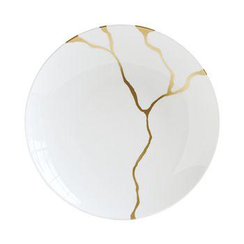 Bernardaud - Kintsugi-Sarkis Deep 24K Gold Round Dish