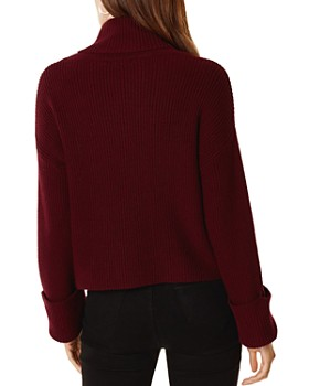 KAREN MILLEN - Zipper-Trimmed Ribbed Sweater