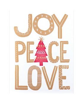 Design Design - Joy Peace Love Greeting Cards, Box of 8