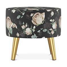 Sparrow & Wren - Monica Round Ottoman - 100% Exclusive