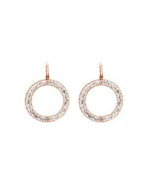 OFFICINA BERNARDI Beaded Loop Drop Earrings in Rose Gold