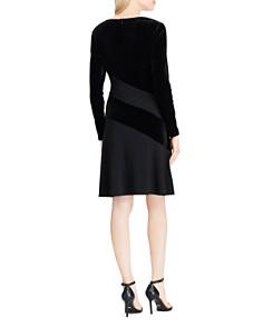 Ralph Lauren - Color-Block Velvet Dress