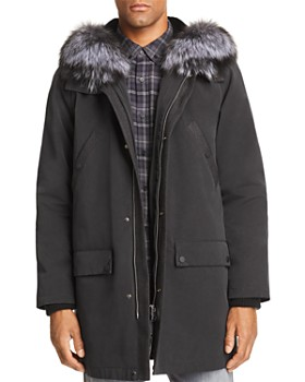 Maximilian Furs - Rabbit Fur-Lined Parka with Fox Fur Trim