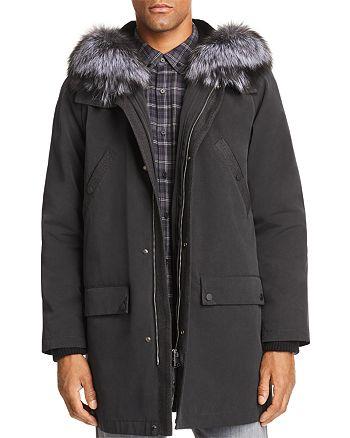 Maximilian Furs - Rabbit Fur-Lined Parka with Fox Fur Trim