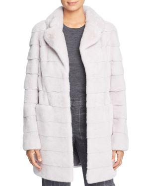 MAXIMILIAN FURS X Julia & Stella Mink Fur Coat in Cloud