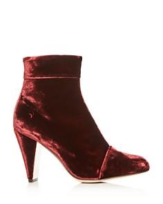 MARION PARKE - Women's Ditto Velvet Cap Toe High-Heel Booties