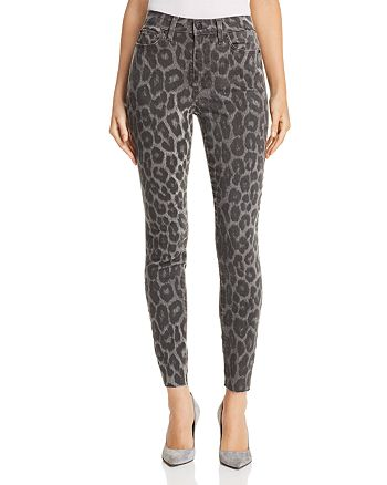 Joe's Jeans - Charlie Ankle Skinny Jeans in Gray Leopard