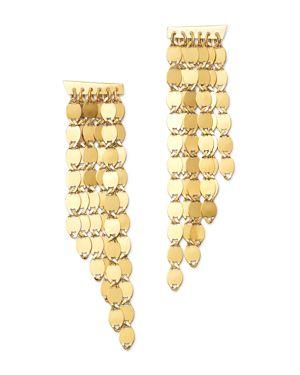 Moon & Meadow 14K Yellow Gold Six-Row Drop Earrings - 100% Exclusive