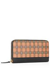 Burberry - Small-Scale Check Leather Zip-Around Wallet