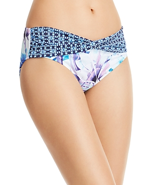 Tommy Bahama Aqua Petals High Waist Bikini Bottom