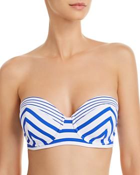 b1443fd648 Tommy Bahama - Beachglass Stripe Strapless Underwire Bikini Top ...