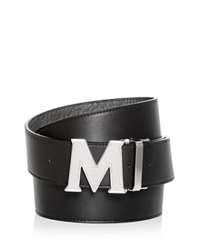 MCM - Claus Engraved Logo Buckle Reversible Belt