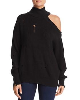 Elan - Distressed Cutout Sweater