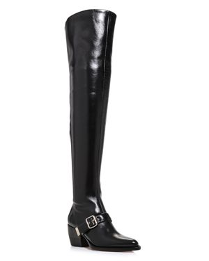 Chloe Women's Rylee Pointed Toe Tall Leather Boots