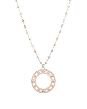 OFFICINA BERNARDI Circle Pendant Necklace, 30 in Rose Gold