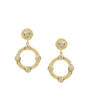 GUMUCHIAN 18K Yellow Gold Carousel Diamond Earrings in White/Gold