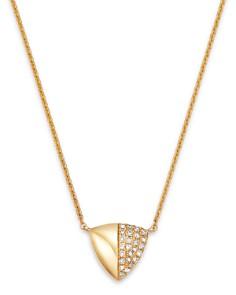 "KC Designs - 14K Yellow Gold Diamond Shield Pendant Necklace, 18"""
